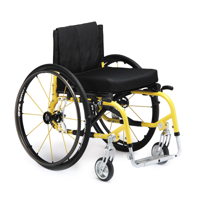 Invacare ProSPIN X4 Ultralight Manual Wheelchair, 70 degree front frame