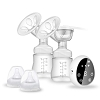 Electric Breast Pump, Rechargeable Portable Double Breastfeeding Pump with 3 Modes & 9 Levels for Breast Milk Suck and Breast Massage