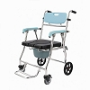 Portable Medical Aid Mobility Commode, Tiltable backrest, Toilet Foldable Chair Bath Shower Seat Elderly Handicapped Hospital Medical Chair