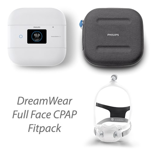 Respironics DreamStation Go Auto and DreamWear Full Face FitPack Bundle