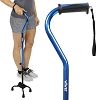 Vive Quad Cane - Walking Stick for Men and Women - Lightweight Adjustable Staff