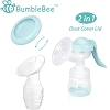 Bumblebee Breast Pump Manual Breast Pump Breastfeeding freemie Collection Cups Pump Stopper lid Pouch in Gift Box bpa Free Food Grade Silicone Manual Breast Pump(Manual Breastpump Combo)