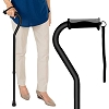 Vive Walking Cane - for Men & Women - Portable, Adjustable Offset Balance Stick