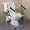 Homecraft Buckingham Foldaway Toilet Surround, Padded Toilet Grab Bars, Bathroom Handrail