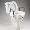 Homecraft Elevated Toilet Seat, Raises Existing Seat, Seat with Locking Screw