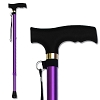 RMS Walking Cane - Adjustable Walking Stick - Lightweight Aluminum Offset Cane with Ergonomic Handle and Wrist Strap