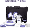 Lansinoh Signature Pro Double Electric Breast Pump, Portable Pump with LCD Screen and Companion Phone App, Pump Milk for Breastfeeding, Pumping Essentials