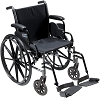 Drive Medical Cruiser III Light Weight Wheelchair with Various Flip Back Arm Styles and Front Rigging