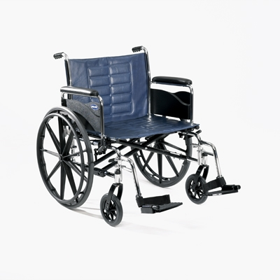 Invacare Tracer IV Wheelchair Dual-axle allows for repositioning for hemi seat-to-floor height.