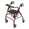 Lumex Walkabout Lite Four-Wheel Rollator Burgundy