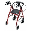 Graham Field Lumex Walkabout Junior Four Wheel Rollator Burgundy